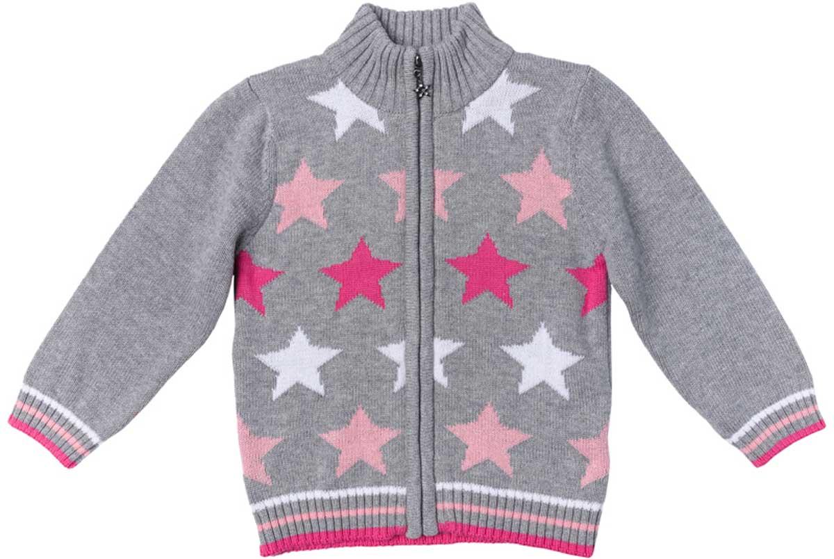 Кофта для девочки PlayToday, цвет: серый, розовый, белый, светло-розовый. 178005. Размер 92178005Кофта для девочки PlayToday выполнена из хлопка. Материал изделия изготовлен методом yarn dyed - в процессе производства в полотне используются разного цвета нити. Тем самым изделие, при рекомендуемом уходе, не линяет и надолго остается в прежнем виде, это определенный знак качества. Модель на молнии. Мягкие резинки на манжетах и по низу изделия позволяют ему держать форму.