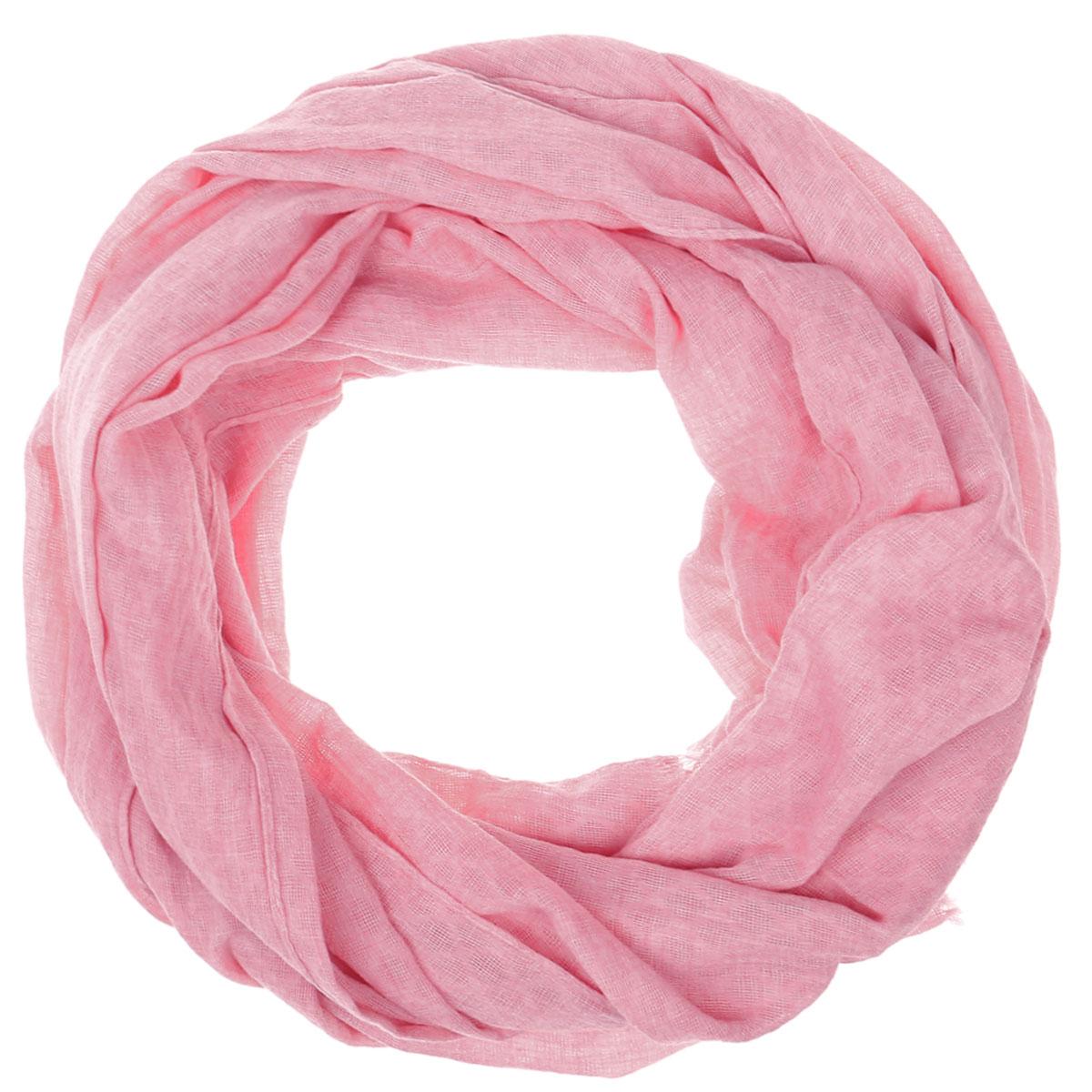 Палантин женский Vittorio Richi, цвет: розовый. Ro02PS1633/1. Размер 70 см х 180 смRo02PS1633/1Легкий палантин Vittorio Rich изготовлен из полиэстера и шелка. Однотонный палантин оформлен выработкой ажурные ромбы. Обработка кромки - подрубка.