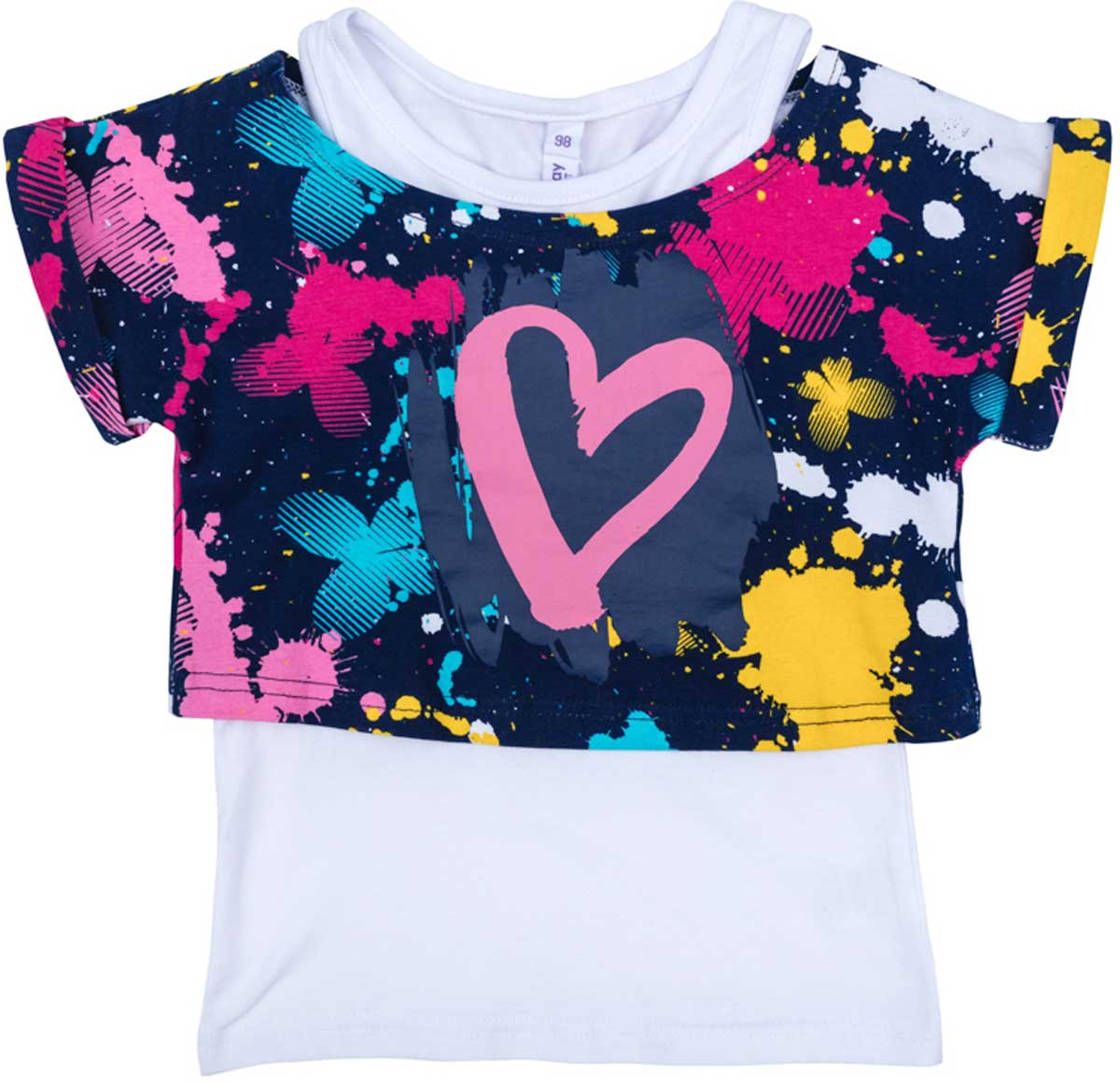 Майка для девочки PlayToday, цвет: синий, светло-розовый, желтый, голубой. 179005. Размер 116179005Комплект для девочки PlayToday понравится вашей моднице! Можно носить вместе и по отдельности. Материал приятен к телу и не вызывает раздражений. Эффектный рисунок принтованной ткани будет выделять данное изделие в детском гардеробе.
