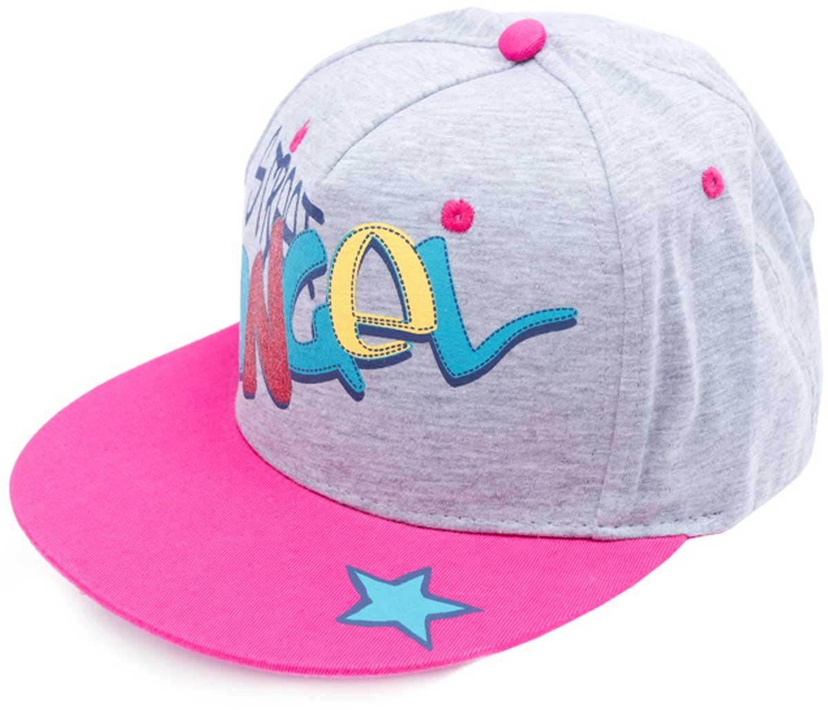 Бейсболка для девочки PlayToday, цвет: светло-серый, розовый, голубой, желтый. 179016. Размер 52179016Модная кепка - бейсболка из натурального хлопка и полиэстера понравится вашему ребенку. Модель с эффектной аппликацией.