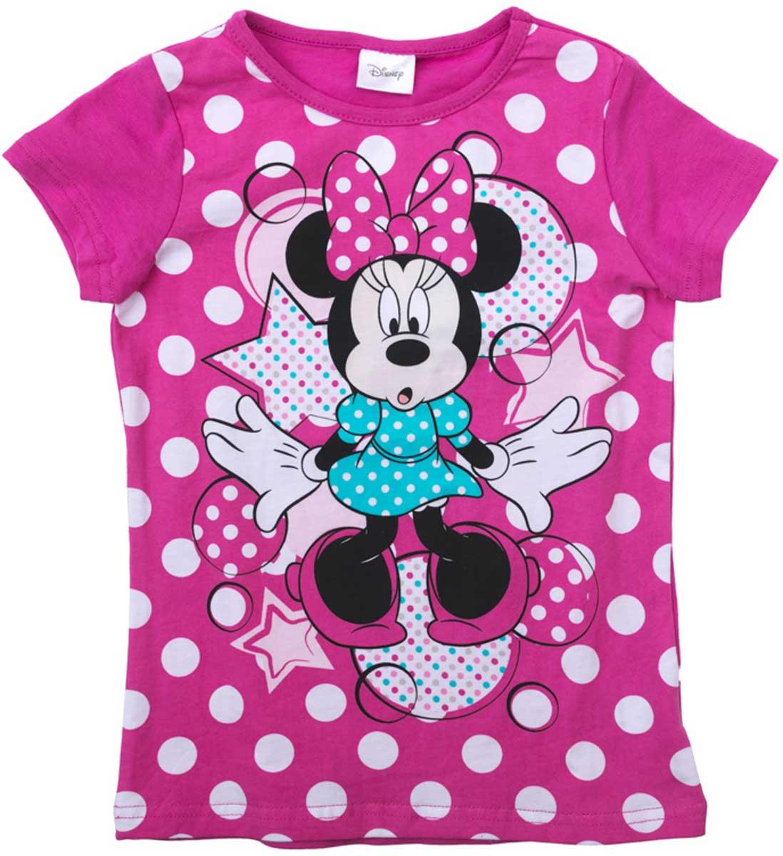 Футболка для девочки PlayToday, цвет: розовый, белый, голубой, черный. 672054. Размер 122672054Футболка для девочки PlayToday выполнена из хлопка и эластана. Модель с круглым вырезом горловины и короткими рукавами оформлена оригинальным принтом.