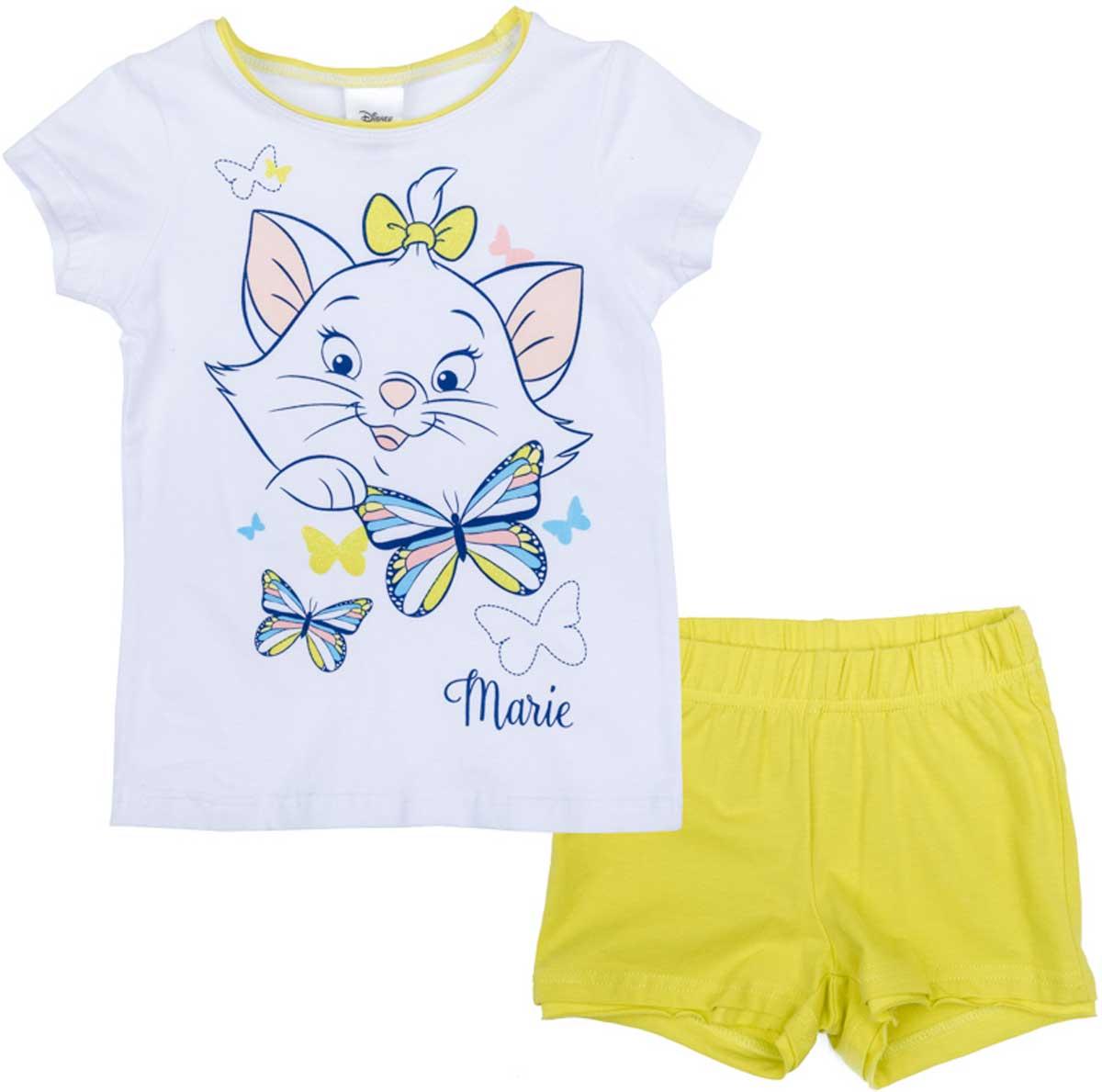 Комплект для девочки PlayToday: футболка, шорты, цвет: белый, желтый, синий. 672105. Размер 104672105Комплект из футболки и шорт прекрасно подойдет как для домашнего использования, так и для прогулок на свежем воздухе. Мягкий, приятный к телу, материал не сковывает движений. Яркий стильный принт является достойным украшением данного изделия. Шорты на мягкой удобной резинке.