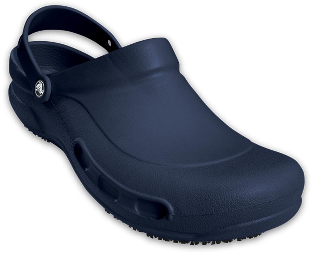 Сабо Crocs Bistro, цвет: темно-синий. 10075-410. Размер 12 (45)10075-410Сабо Crocs придутся вам по душе. Рельефная поверхность верхней части подошвы комфортна при движении. Рифленое основание подошвы гарантирует идеальное сцепление с любой поверхностью. Такие сабо - отличное решение для каждодневного использования!