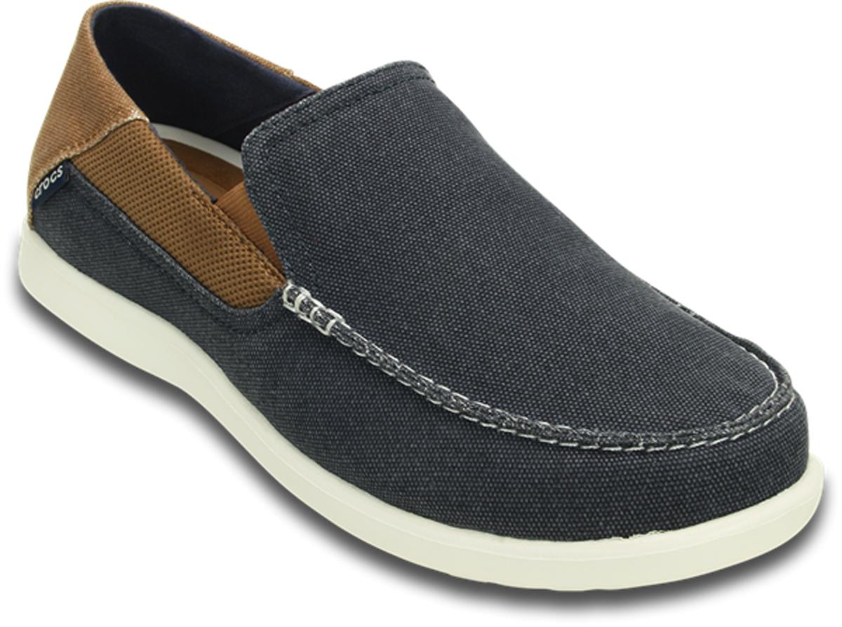 Слипоны мужские Crocs Santa Cruz 2 Luxe M, цвет: темно-синий. 202056-4R9. Размер 12 (44/45)202056-4R9Модные слипоны от Crocs заинтересуют вас своим дизайном с первого взгляда! Эластичные вставки по бокам обеспечивают идеальную посадку модели на ноге.Подошва очень легкая и гибкая. Рифление на подошве гарантирует идеальное сцепление с поверхностью. Стильные слипоны займут достойное место в вашем гардеробе.