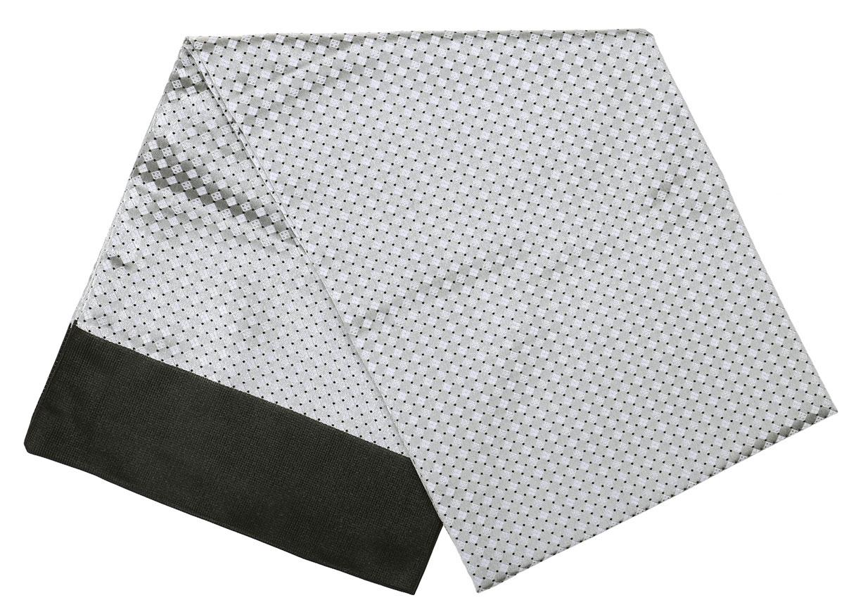 Шарф Vittorio Richi, цвет: светло-серый, черный. Ro02G138-3100-4. Размер 28 см х 138 смRo02G138-3100-4Стильный шарф Vittorio Richi изготовлен из полиэстера и шелка. Двусторонний текстильный шарф оформлен мелким рисунком. Края выполнены из однотонной ткани.
