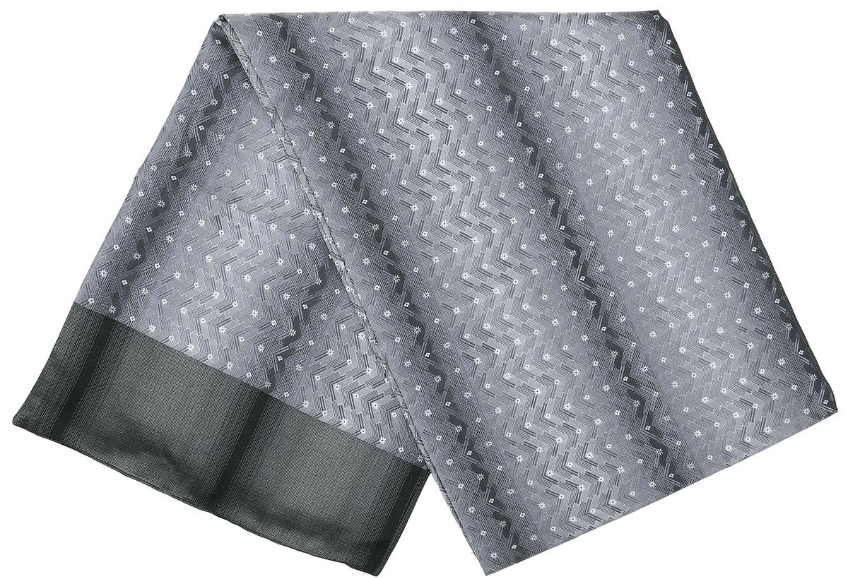Шарф Vittorio Richi, цвет: серый, светло-серый, белый. Ro02G138-2932-1. Размер 28 см х 138 смRo02G138-2932-1Стильный шарф Vittorio Richi изготовлен из полиэстера и шелка. Двусторонний текстильный шарф оформлен мелким рисунком. Края выполнены из однотонной ткани.