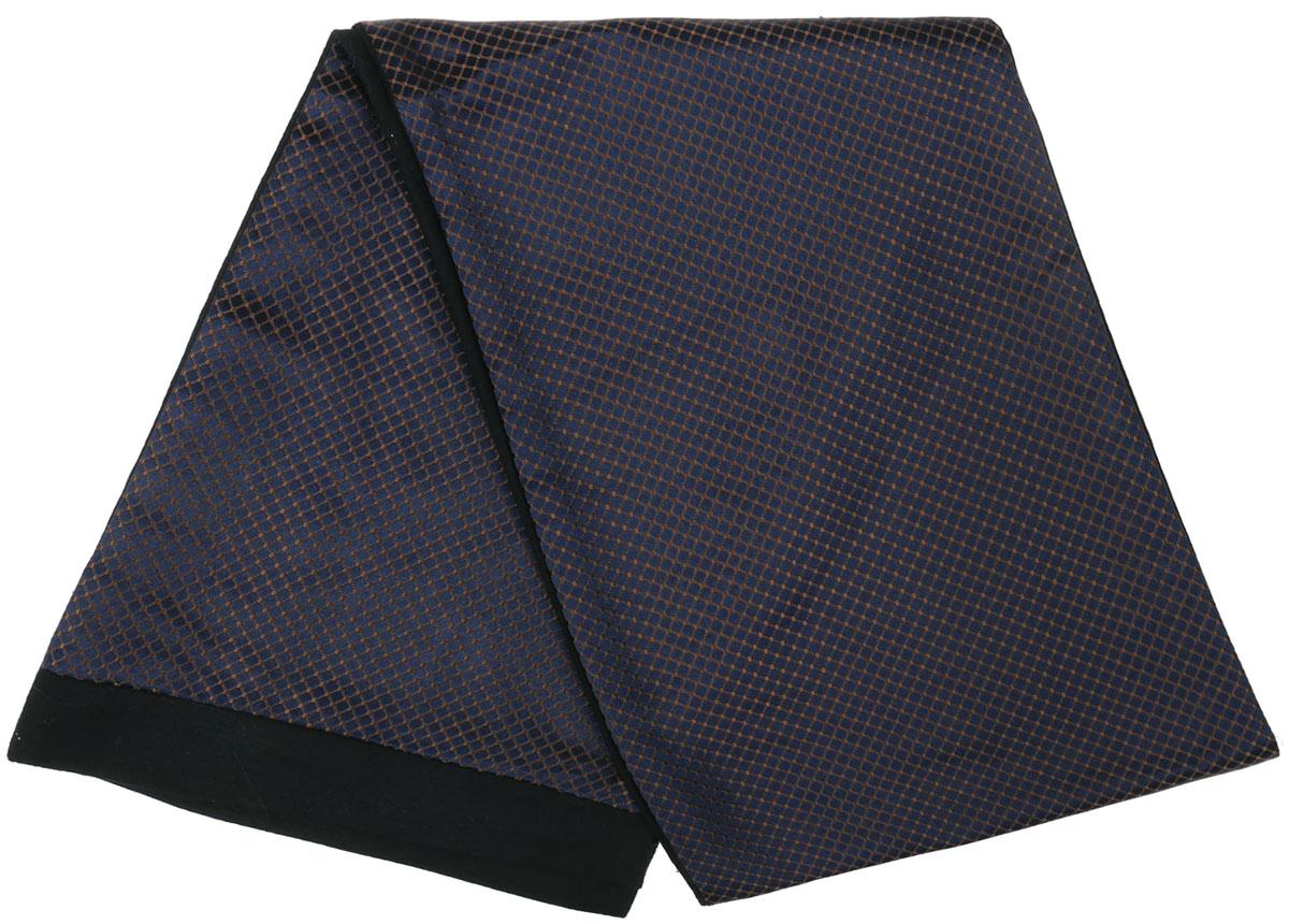 Шарф Vittorio Richi, цвет: темно-синий, коричневый, черный. Ro02G100-2945-7. Размер 25 см х 138 смRo02G100-2945-7Стильный шарф Vittorio Richi изготовлен из полиэстера и шелка. Шарф оформлен мелким рисунком. Края и внутренняя сторона выполнены из мягкой однотонной ткани.