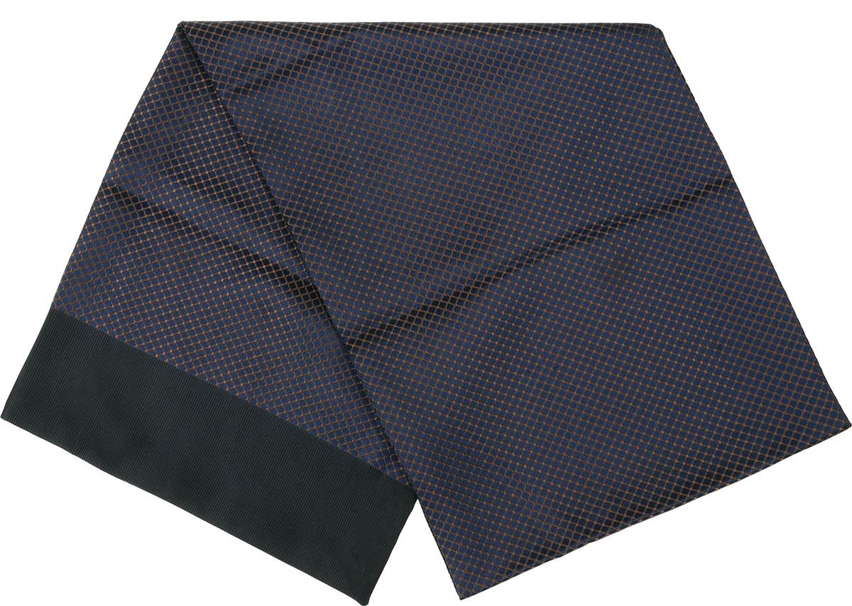 Шарф Vittorio Richi, цвет: синий, коричневый, черный. Ro02G138-2945-7. Размер 28 см х 138 смRo02G138-2945-7Стильный шарф Vittorio Richi изготовлен из полиэстера и шелка. Двусторонний текстильный шарф оформлен мелким рисунком. Края выполнены из однотонной ткани.