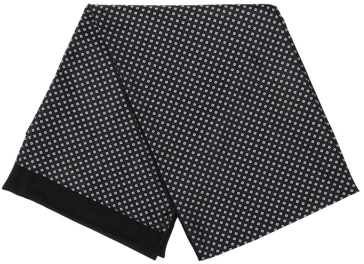Шарф Vittorio Richi, цвет: черный, белый. Ro02G100-3029-8. Размер 25 см х 138 смRo02G100-3029-8Стильный шарф Vittorio Richi изготовлен из полиэстера и шелка. Шарф оформлен мелким рисунком. Края и внутренняя сторона выполнены из мягкой однотонной ткани.
