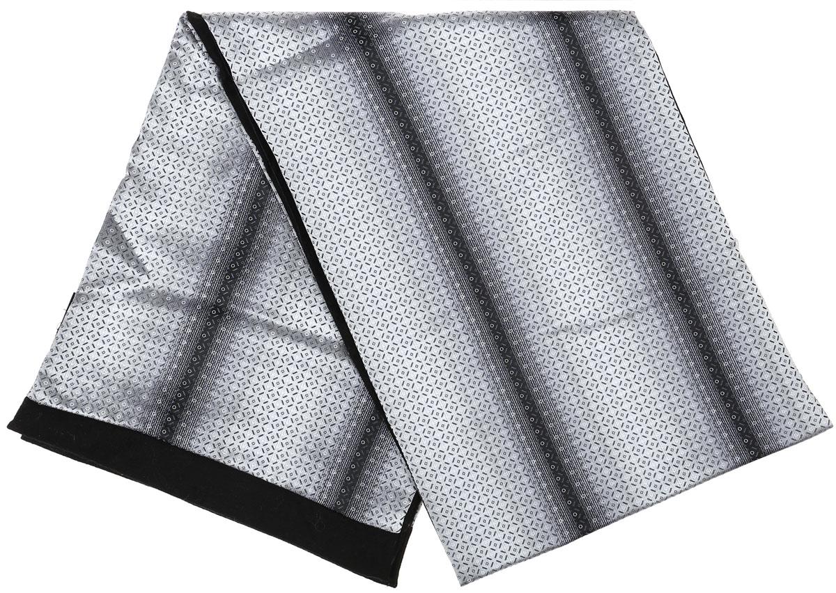 Шарф Vittorio Richi, цвет: светло-серый, серый, черный. Ro02G100-3010-1. Размер 25 см х 138 смRo02G100-3010-1Стильный шарф Vittorio Richi изготовлен из полиэстера и шелка. Шарф оформлен мелким рисунком. Края и внутренняя сторона выполнены из мягкой однотонной ткани.