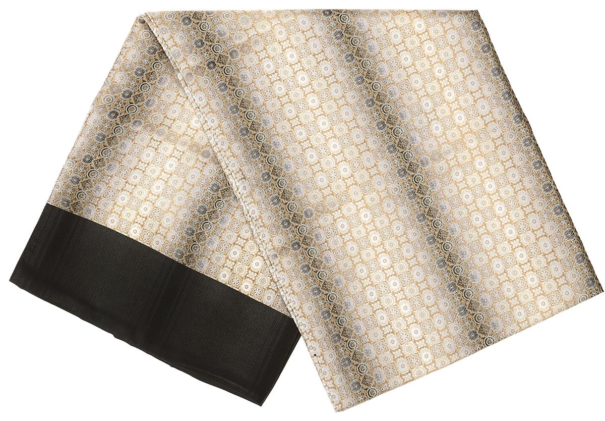 Шарф Vittorio Richi, цвет: бежевый, черный. Ro02G138-3049-1. Размер 28 см х 138 смRo02G138-3049-1Стильный шарф Vittorio Richi изготовлен из полиэстера и шелка. Двусторонний текстильный шарф оформлен мелким рисунком. Края выполнены из однотонной ткани.