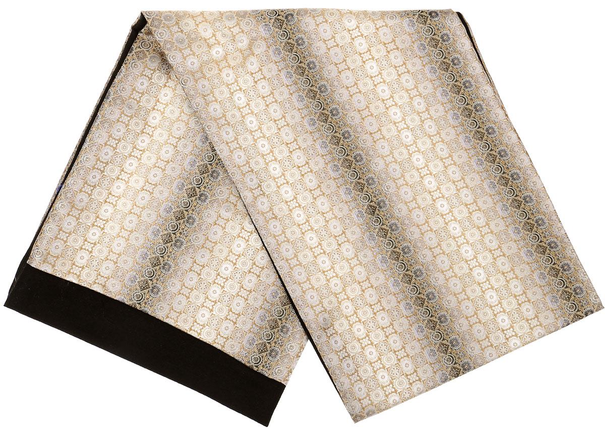 Шарф Vittorio Richi, цвет: бежевый, черный. Ro02G100-3049-1. Размер 25 см х 138 смRo02G100-3049-1Стильный шарф Vittorio Richi изготовлен из полиэстера и шелка. Шарф оформлен мелким рисунком. Края и внутренняя сторона выполнены из мягкой однотонной ткани.
