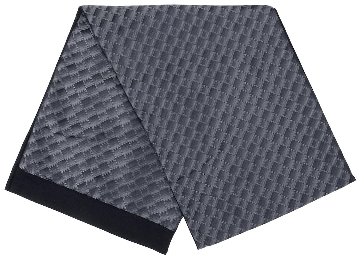 Шарф Vittorio Richi, цвет: серый, сиреневый, черный. Ro02G100-3077-2. Размер 25 см х 138 смRo02G100-3077-2Стильный шарф Vittorio Richi изготовлен из полиэстера и шелка. Шарф оформлен мелким рисунком. Края и внутренняя сторона выполнены из мягкой однотонной ткани.
