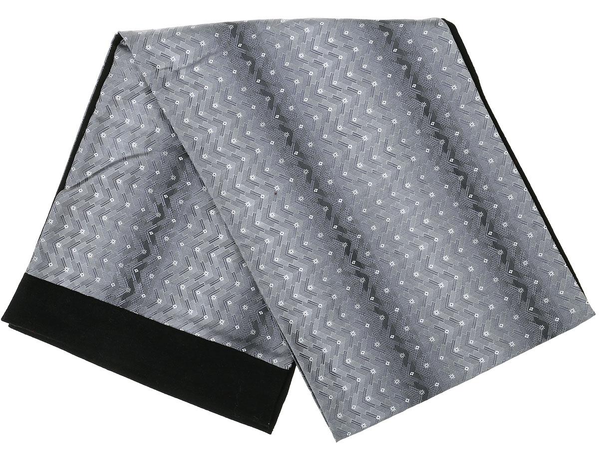 Шарф Vittorio Richi, цвет: светло-серый, серый, черный. Ro02G100-2932-1. Размер 25 см х 138 смRo02G100-2932-1Стильный шарф Vittorio Richi изготовлен из полиэстера и шелка. Шарф оформлен мелким рисунком. Края и внутренняя сторона выполнены из мягкой однотонной ткани.
