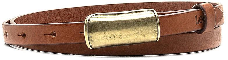 Ремень женский Lee, цвет: коричневый. LP065080. Размер 85LP065080Стильный тонкий ремень Lee выполнен из натуральной кожи. Пряжка, с помощью которой регулируется длина ремня, выполнена из качественного металла.