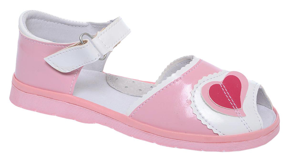 Сандалии для девочки Римал, цвет: розовый, белый. 3582. Размер 31,53582Сандалии для девочки Римал выполнены из качественной искусственной кожи. Ремешок с липучкой обеспечит оптимальную посадку модели на ноге. Кожаная стелька с супинатором придаст максимальный комфорт при движении.