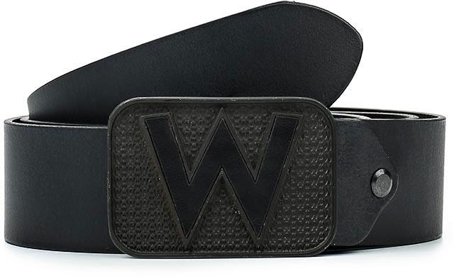 Ремень мужской Wrangler, цвет: черный. W0A65US01. Размер 95W0A65US01Стильный широкий ремень Wrangler выполнен из натуральной кожи.Металлическая пряжка, с помощью которой регулируется длина ремня, оформлена фирменной гравировкой.