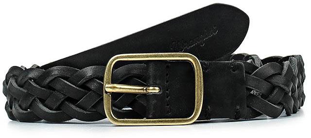 Ремень мужской Wrangler, цвет: черный. W0A72U101. Размер 85W0A72U101Стильныйремень Wrangler выполнен из натуральной кожи и оформлен плетением.Пряжка, с помощью которой регулируется длина ремня, выполнена из качественного металла.