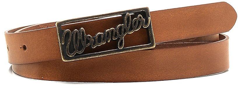Ремень женский Wrangler, цвет: коричневый. W0A76US85. Размер 95W0A76US85Стильный ремень Wrangler выполнен из натуральной кожи. Прямоугольная пряжка, с помощью которой регулируется длина ремня, выполнена из металла и оформлена гравированной надписью с названием бренда.
