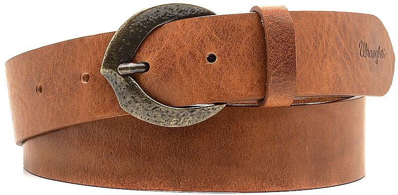 Ремень женский Wrangler, цвет: коричневый. W0A81U181. Размер 80W0A81U181Стильный широкий ремень Wrangler выполнен из натуральной кожи. Пряжка, с помощью которой регулируется длина ремня, выполнена из качественного металла.