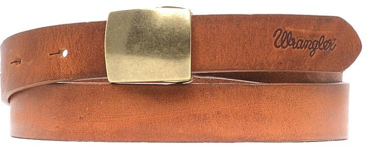 Ремень женский Wrangler, цвет: коричневый. W0A96U181. Размер 90W0A96U181Стильный широкий ремень Wrangler выполнен из натуральной кожи. Прямоугольная пряжка, с помощью которой регулируется длина ремня, выполнена из металла.