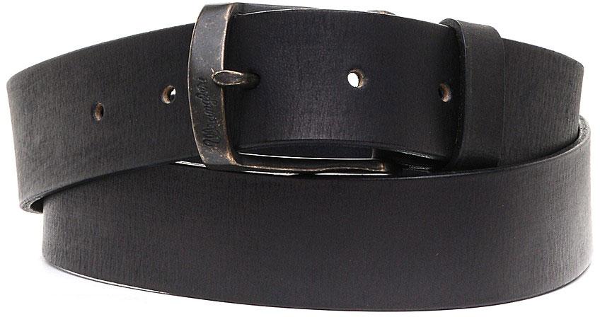 Ремень мужской Wrangler, цвет: черный. W0273U101. Размер 95W0273U101Стильный ремень Wrangler выполнен из натуральной кожи.Пряжка, с помощью которой регулируется длина ремня, выполнена из качественного металла.