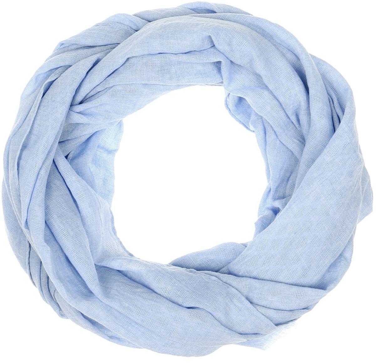 Палантин женский Vittorio Richi, цвет: голубой. Ro02PS1633/4. Размер 70 см х 180 смRo02PS1633/4Легкий палантин Vittorio Rich изготовлен из полиэстера и шелка. Однотонный палантин оформлен выработкой ажурные ромбы. Обработка кромки - подрубка.