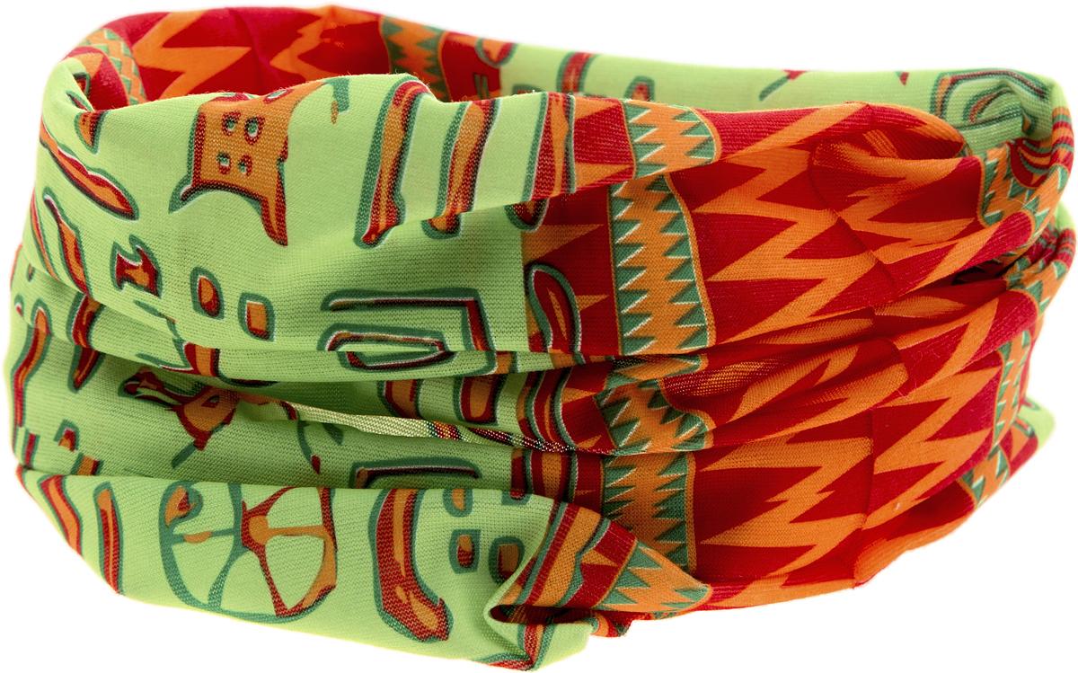 Шарф YusliQ, цвет: красный, зеленый, оранжевый. 17-48. Размер 46 см х 24 см17-48Мультишарфы можно встретить под разными названиями: мультишарф, мультибандана, платок трансформер, Baff, но вне зависимости от того, как Вы назовете этот аксессуар, его уникальные возможности останутся неизменными. Вы с легкостью и удобством можете одеть этот мультишарф на голову и шею 12 различными способами. В сильные морозы, пронизывающий ветер или пыльную бурю - с мультишарфом Вы будете готовы к любым капризам природы.Авторская работа.