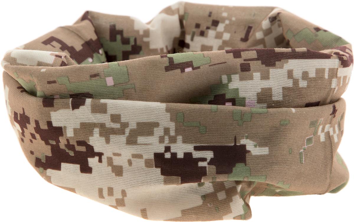 Шарф YusliQ, цвет: бежевый, коричневый, зеленый. 15-20. Размер 46 см х 24 см15-20Мультишарфы можно встретить под разными названиями: мультишарф, мультибандана, платок трансформер, Baff, но вне зависимости от того, как Вы назовете этот аксессуар, его уникальные возможности останутся неизменными. Вы с легкостью и удобством можете одеть этот мультишарф на голову и шею 12 различными способами. В сильные морозы, пронизывающий ветер или пыльную бурю - с мультишарфом Вы будете готовы к любым капризам природы.Авторская работа.