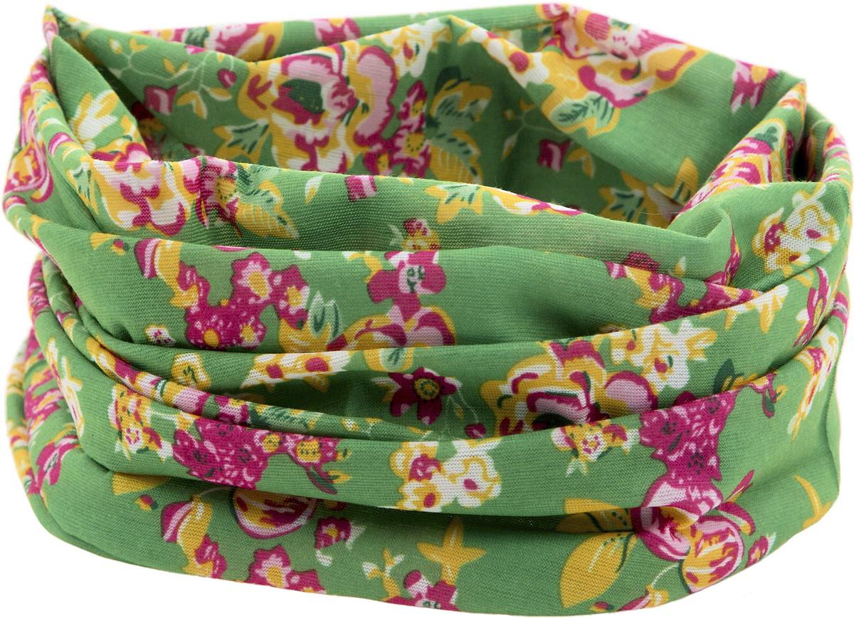 Шарф YusliQ, цвет: зеленый, желтый, розовый. 15-05.1. Размер 46 см х 24 см15-05.1Мультишарфы можно встретить под разными названиями: мультишарф, мультибандана, платок трансформер, Baff, но вне зависимости от того, как Вы назовете этот аксессуар, его уникальные возможности останутся неизменными. Вы с легкостью и удобством можете одеть этот мультишарф на голову и шею 12 различными способами. В сильные морозы, пронизывающий ветер или пыльную бурю - с мультишарфом Вы будете готовы к любым капризам природы.Авторская работа.