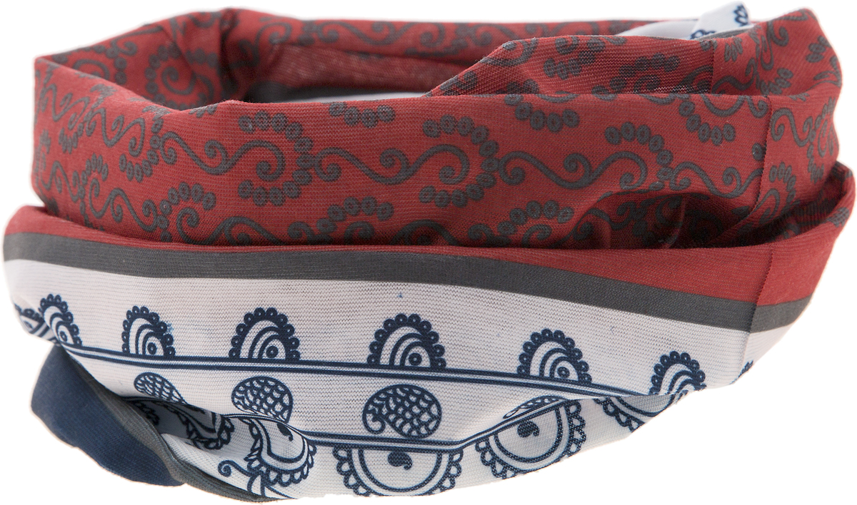 Шарф YusliQ, цвет: красный, серый, белый, синий. 15-35. Размер 46 см х 24 см15-35Мультишарфы можно встретить под разными названиями: мультишарф, мультибандана, платок трансформер, Baff, но вне зависимости от того, как Вы назовете этот аксессуар, его уникальные возможности останутся неизменными. Вы с легкостью и удобством можете одеть этот мультишарф на голову и шею 12 различными способами. В сильные морозы, пронизывающий ветер или пыльную бурю - с мультишарфом Вы будете готовы к любым капризам природы.Авторская работа.