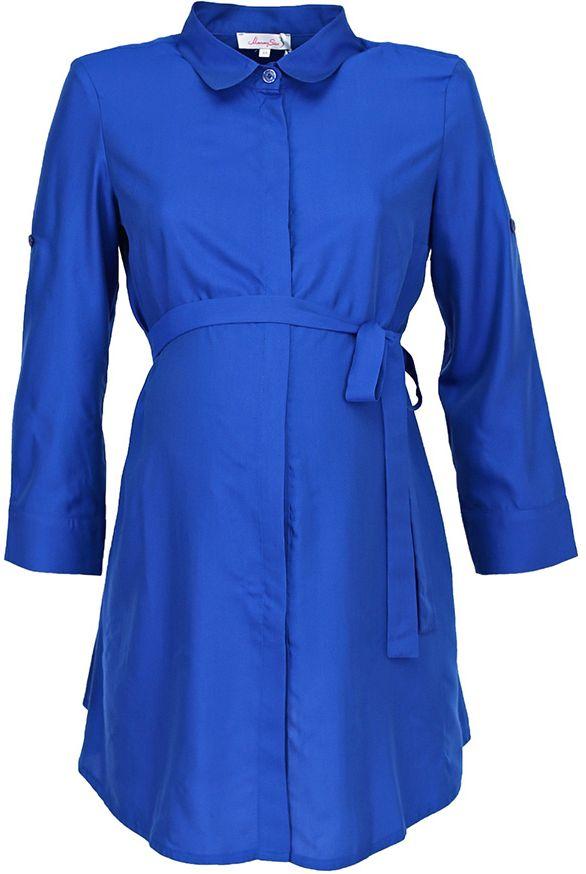 Блузка для беременных Mammy Size, цвет: синий. 3068442173. Размер 483068442173Легкая блузка Mammy Size для беременных и кормящих женщин. Отлично подойдет для работы в офисе.