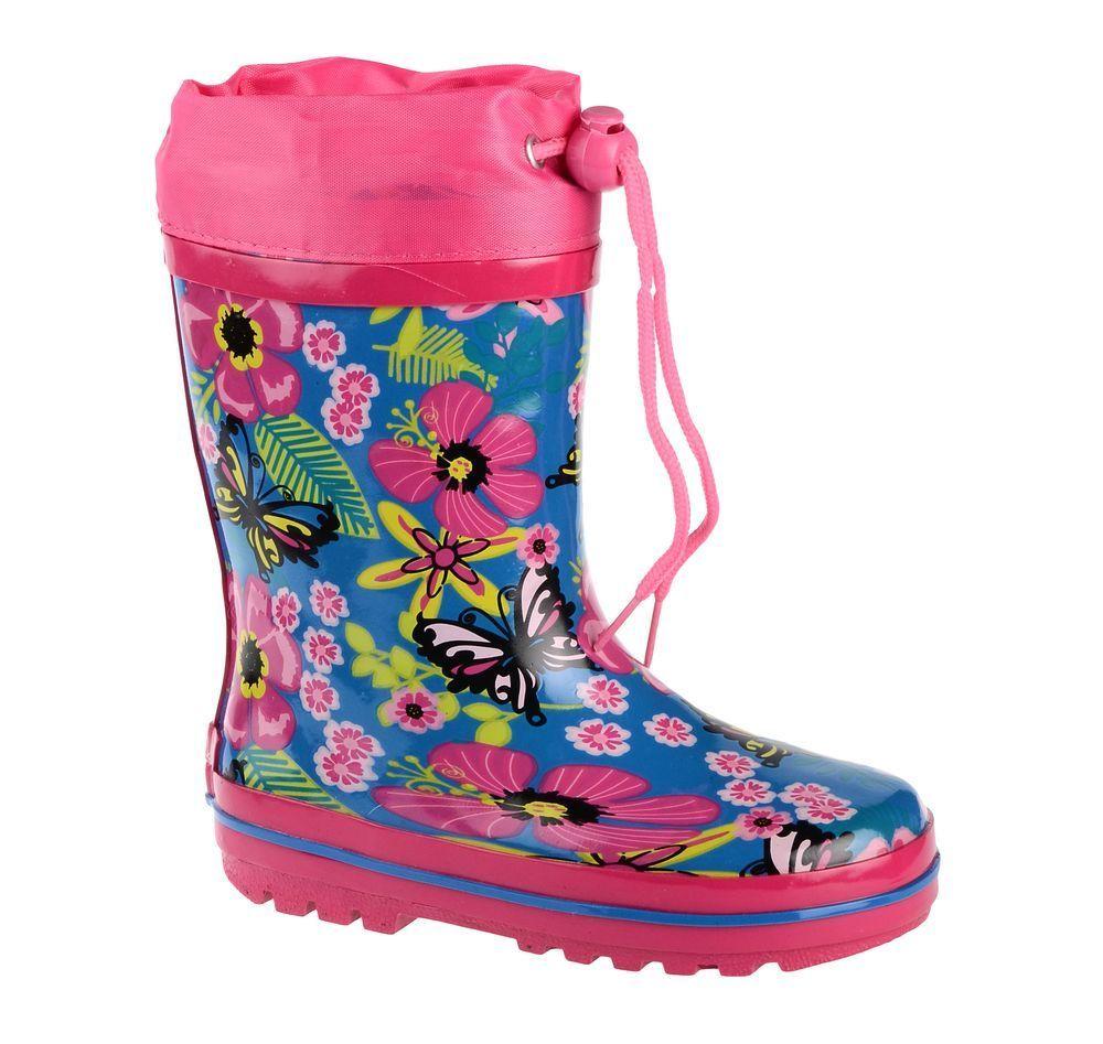 Сапоги резиновые для девочки Flamingo, цвет: розовый, голубой. 71-HL-0016. Размер 2571-HL-0016Утепленные резиновые сапоги от Flamingo - идеальная обувь в холодную дождливую погоду для вашего ребенка. Сапоги, выполненные из качественной резины, оформлены цветочным принтом. Подкладка и стелька из шерсти не дадут ногам вашего ребенка замерзнуть. Текстильный верх голенища регулируется в объеме за счет шнурка с бегунком. Подошва дополнена протектором.