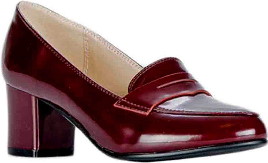 Туфли женские Vitacci, цвет: бордовый. 83437. Размер 3583437Удобные женские туфли Vitacci - отличный вариант на каждый день. Верх модели изготовлен из качественной искусственной кожи и оформлен язычком. Стелька из натуральной кожи гарантирует комфорт и удобство при ходьбе. Подошва с широким каблуком обеспечивает идеальное сцепление с разными поверхностями.