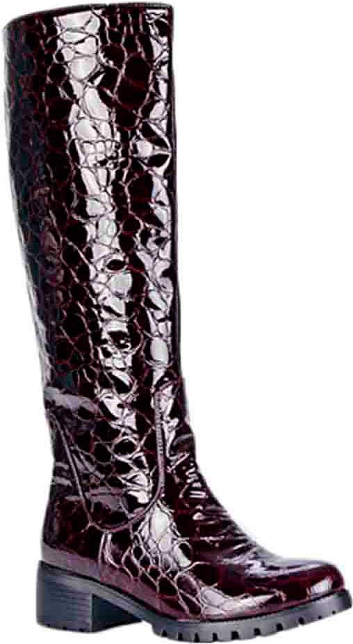 Сапоги женские Vitacci, цвет: бордовый. 83228. Размер 4183228Стильные женские сапоги от Vitacci займут достойное место в вашем гардеробе. Модель выполнена из качественной искусственной кожи. Сапоги застегиваются на молнию. Подкладка и стелька из ворсина защитят ноги от холода и обеспечат комфорт. Умеренной высоты каблук и подошва из термополиуретана с рельефным протектором обеспечивает отличное сцепление на любой поверхности. Модные сапоги займут достойное место среди вашей коллекции обуви.
