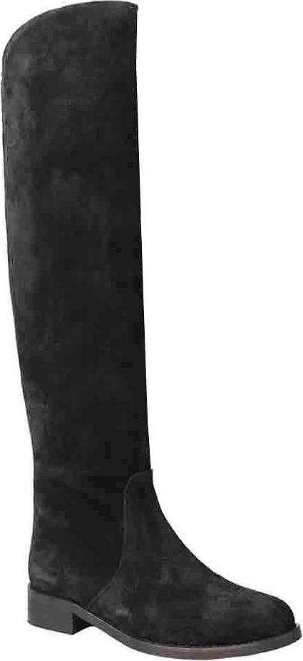 Сапоги женские Vitacci, цвет: черный. 82051. Размер 3982051Стильные женские сапоги от Vitacci займут достойное место в вашем гардеробе. Модель выполнена из натуральной замшевой кожи. Подкладка и стелька из байки защитят ноги от холода и обеспечат комфорт. Умеренной высоты каблук и подошва из термополиуретана с рельефным протектором обеспечивает отличное сцепление на любой поверхности. Модные сапоги займут достойное место среди вашей коллекции обуви.