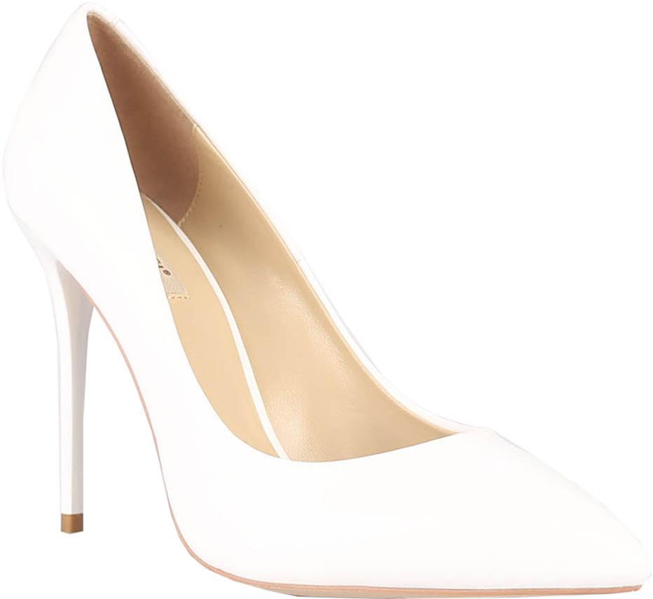 Туфли женские Vitacci, цвет: белый. 49190. Размер 3849190Стильные туфли Vitacci не оставят вас незамеченной! Модель выполнена из качественной натуральной кожи. Стелька из натуральной кожи обеспечивает комфорт и удобство при ходьбе. Подошва выполнена с высоким изящным каблуком.