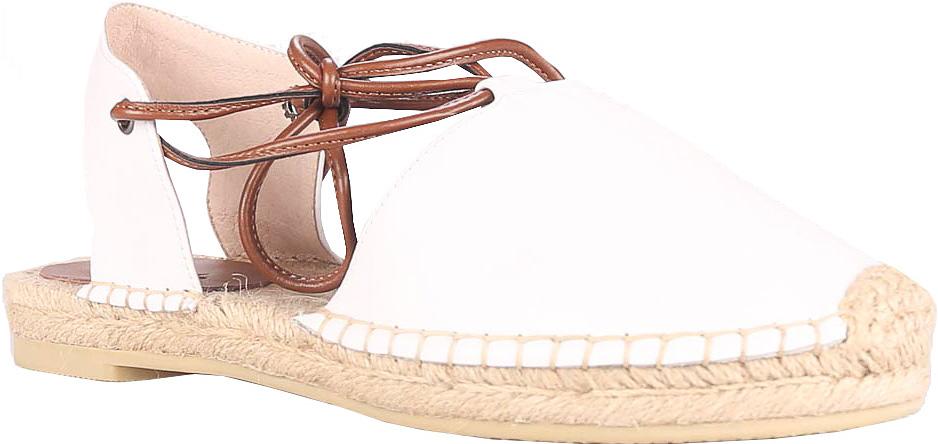 Босоножки Vitacci, цвет: белый. 45530. Размер 3645530Стильные босоножки Vitacci прекрасно подчеркнут ваш стиль. Модель изготовлена из натуральной кожи. Босоножки завязываются длинными шнурками, которые надежно фиксирует модель на ноге. Стельки из натуральной кожи гарантируют комфорт и удобство при ходьбе.