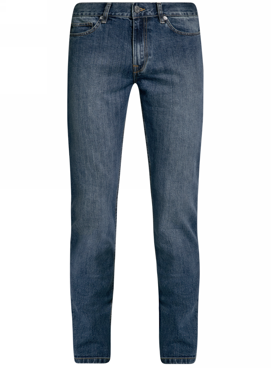 Джинсы мужские oodji Basic, цвет: индиго джинс. 6B120046M/46627/7800W. Размер 29-34 (46-34)6B120046M/46627/7800WМужские джинсы oodji Basic выполнены из высококачественного материала. Модель средней посадки по поясу застегивается на пуговицу и имеют ширинку на застежке-молнии, а также шлевки для ремня. Джинсы имеют классический пятикарманный крой: спереди - два втачных кармана и один маленький накладной, а сзади - два накладных кармана.