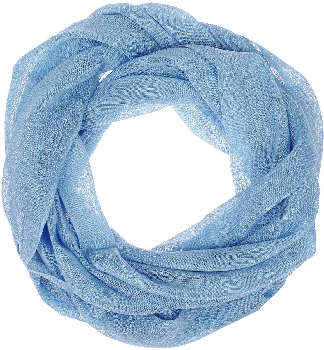 Палантин Vita Pelle, цвет: голубой. Ro02P135S/96. Размер 62 см х 175 смRo02P135S/96Палантин от Vita Pelle изготовлен изо льна и вискозы. Края изделия дополнены бахромой.