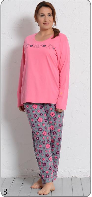 Комплект домашний женский Vienettas Secret: лонгслив, брюки, цвет: темно-розовый, серый. 409024 4607. Размер XXXL (54)409024 4607Женский домашний комплект Vienettas Secret состоит из лонгслива и брюк. Комплект выполнен из 100% натурального хлопка. Лонгслив имеет круглый вырез горловины и длинные рукава. Брюки свободного кроя снабжены резинкой на талии. Лонгслив выполнен в однотонном дизайне, а брюки дополнены цветочным принтом.