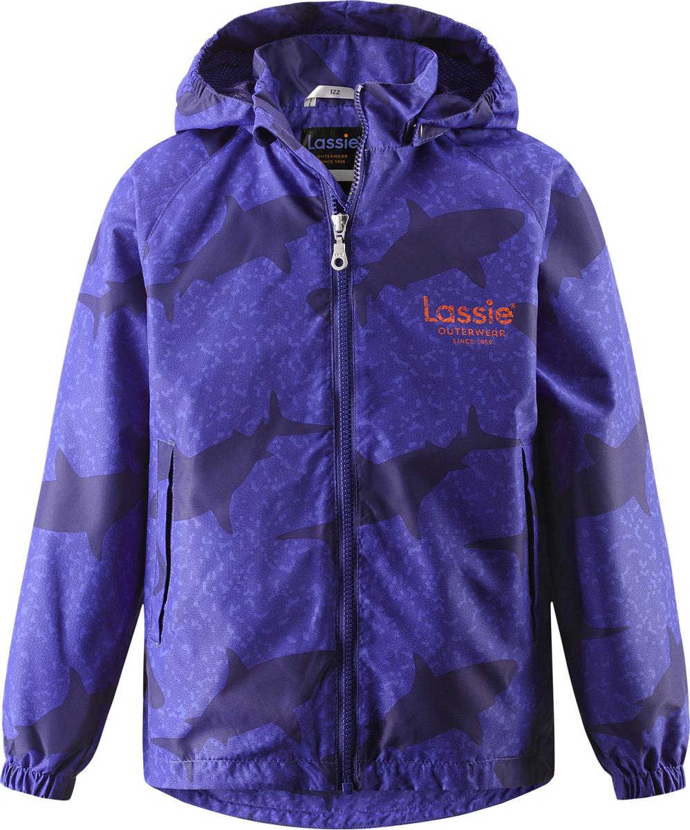 Куртка для мальчика Lassie, цвет: фиолетовый. 721705R669. Размер 122721705R669Куртка для мальчика Lassie с легкой степенью утепления изготовлена из ветронепроницаемого, водо- и грязеотталкивающего материала. Куртка прямого кроя с воротником-стойкой и съемным капюшоном застегивается на молнию с защитой подбородка и дополнительно имеет внутреннюю ветрозащитную планку. Капюшон пристегивается к куртке при помощи кнопок. Капюшон по краям и манжеты рукавов присборены на резинки. Спереди расположены два удобных прорезных кармана липучках. Теплая, комфортная и практичная куртка идеально подойдет для прогулок и игр на свежем воздухе!Температурный режим от 0°С до -10°С.