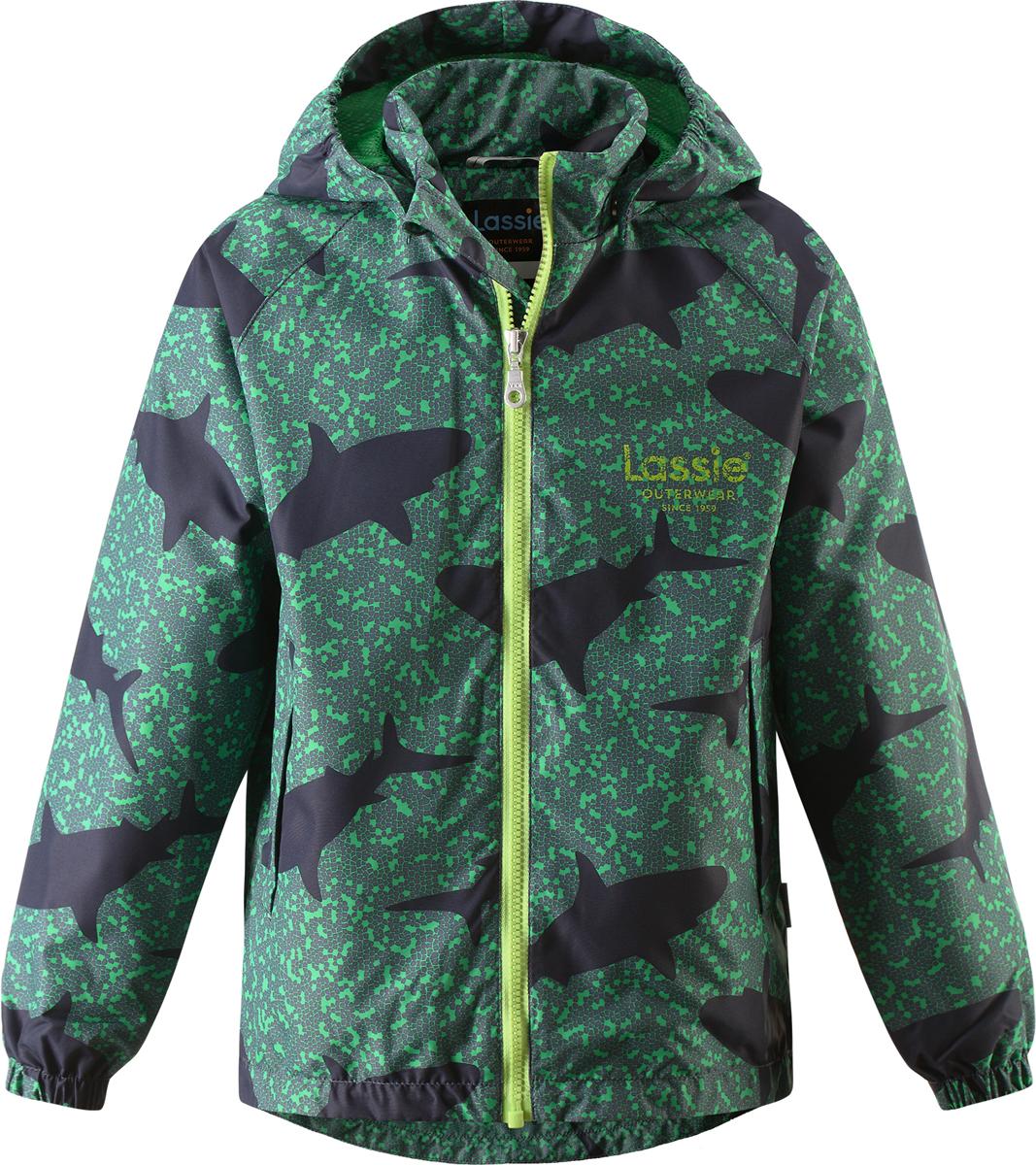 Куртка для мальчика Lassie, цвет: зеленый. 721705R881. Размер 92721705R881Куртка для мальчика Lassie с легкой степенью утепления изготовлена из ветронепроницаемого, водо- и грязеотталкивающего материала. Куртка прямого кроя с воротником-стойкой и съемным капюшоном застегивается на молнию с защитой подбородка и дополнительно имеет внутреннюю ветрозащитную планку. Капюшон пристегивается к куртке при помощи кнопок. Капюшон по краям и манжеты рукавов присборены на резинки. Спереди расположены два удобных прорезных кармана липучках. Теплая, комфортная и практичная куртка идеально подойдет для прогулок и игр на свежем воздухе!Температурный режим от 0°С до -10°С.