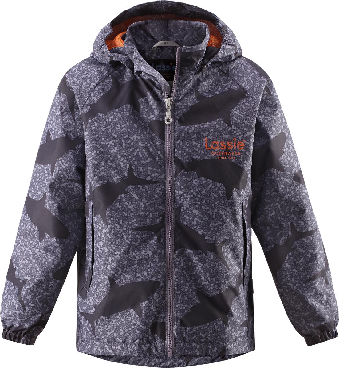 Куртка для мальчика Lassie, цвет: черный, серый. 721705R999. Размер 140721705R999Куртка для мальчика Lassie с легкой степенью утепления изготовлена из ветронепроницаемого, водо- и грязеотталкивающего материала. Куртка прямого кроя с воротником-стойкой и съемным капюшоном застегивается на молнию с защитой подбородка и дополнительно имеет внутреннюю ветрозащитную планку. Капюшон пристегивается к куртке при помощи кнопок. Капюшон по краям и манжеты рукавов присборены на резинки. Спереди расположены два удобных прорезных кармана липучках. Теплая, комфортная и практичная куртка идеально подойдет для прогулок и игр на свежем воздухе!Температурный режим от 0°С до -10°С.