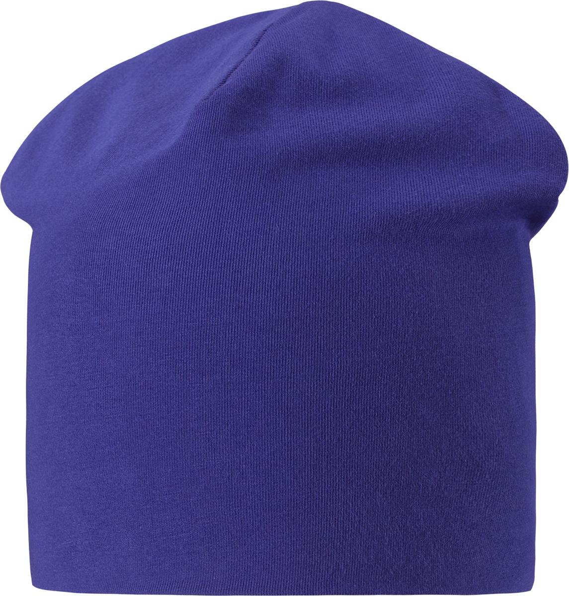 Шапка для мальчика Lassie, цвет: синий. 7287056691. Размер 50/527287056691Легкая и удобная детская шапка в нескольких вариантах разных однотонных расцветок и ярких принтов. Шапка сделана из легкого и дышащего джерси на полной трикотажной подкладке из смесового хлопка. Ветронепроницаемые вставки в области ушей обеспечивают дополнительное утепление.