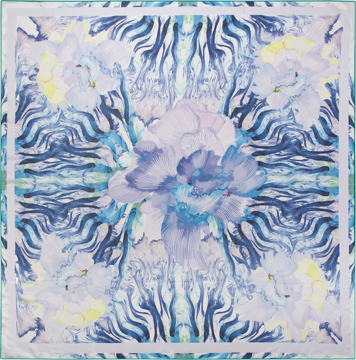 Платок женский Eleganzza, цвет: синий, голубой. D02-1194. Размер 110 см х 110 смD02-1194Платок Eleganzza, выполненный из шелка, идеально дополнит образ современной женщины. Модель оформлена принтом. Классическая квадратная форма позволяет носить платок на шее, украшать им прическу или декорировать сумочку. С таким аксессуаром вы всегда будете выглядеть стильно и модно.