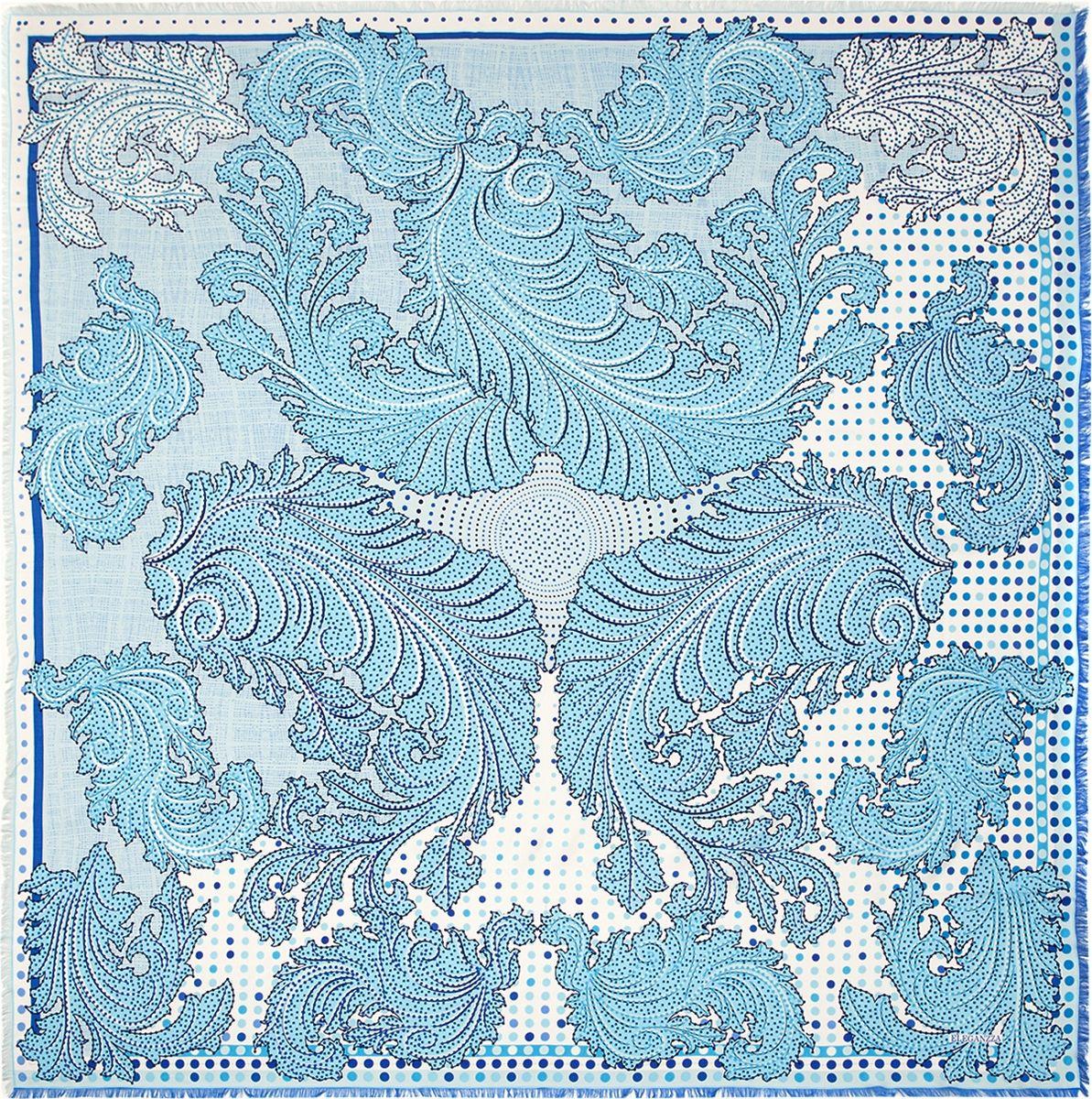 Платок женский Eleganzza, цвет: голубой. D34-1203. Размер 110 см х 110 смD34-1203Платок Eleganzza, выполненный из вискозы и шелка, идеально дополнит образ современной женщины. Модель оформлена принтом с узорами. Классическая квадратная форма позволяет носить платок на шее, украшать им прическу или декорировать сумочку. С таким замечательным аксессуаром вы всегда будете выглядеть женственно и привлекательно.