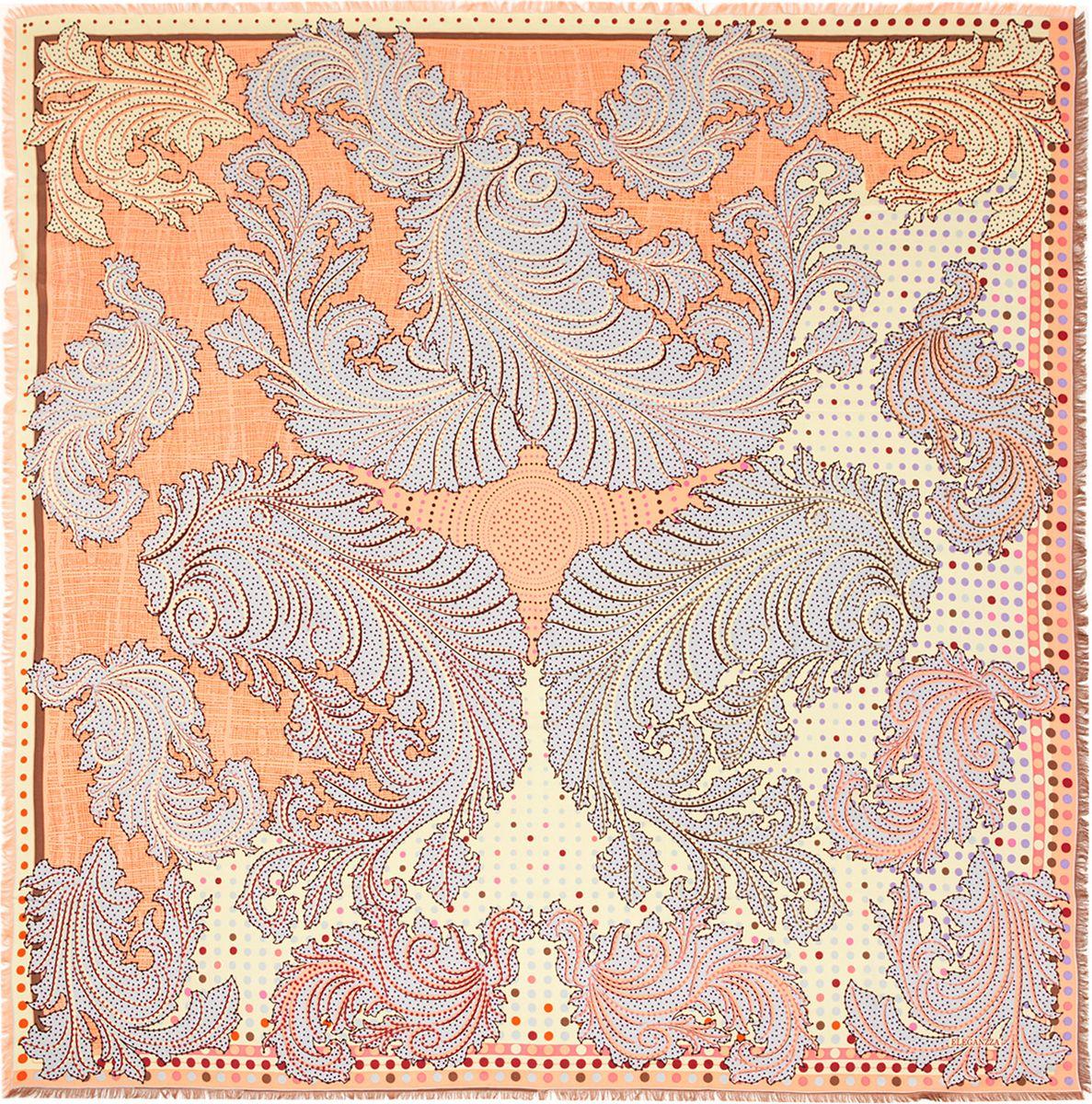 Платок женский Eleganzza, цвет: оранжевый. D34-1203. Размер 110 см х 110 смD34-1203Платок Eleganzza, выполненный из вискозы и шелка, идеально дополнит образ современной женщины. Модель оформлена принтом с узорами. Классическая квадратная форма позволяет носить платок на шее, украшать им прическу или декорировать сумочку. С таким замечательным аксессуаром вы всегда будете выглядеть женственно и привлекательно.