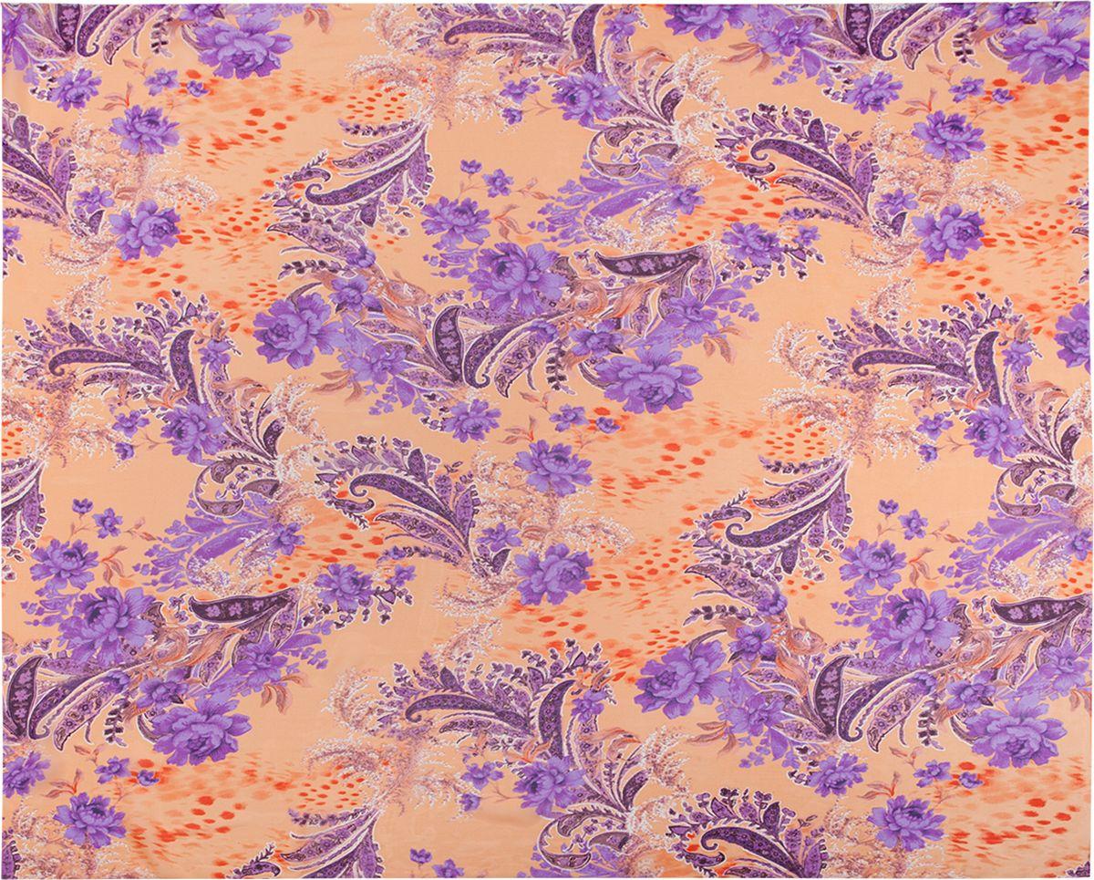 Палантин Eleganzza, цвет: светло-оранжевый, фиолетовый. KA01-8139. Размер 110 см х 180 смKA01-8139Палантин Eleganzza изготовлен из шелка. Изделие оформлено цветочным принтом.Этот модный аксессуар гармонично дополнит образ современной женщины, следящей за своим имиджем и стремящейся всегда оставаться стильной и элегантной.