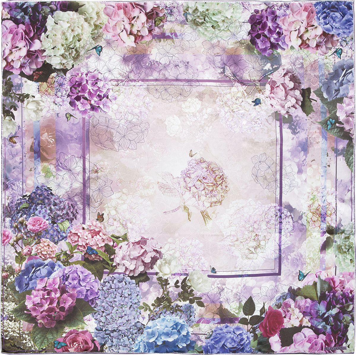 Платок женский Eleganzza, цвет: лиловый. KA03-8133. Размер 90 см х 90 смKA03-8133Платок Eleganzza, выполненный из шелка, идеально дополнит образ современной женщины. Модель оформлена цветочным принтом. Классическая квадратная форма позволяет носить платок на шее, украшать им прическу или декорировать сумочку. С таким замечательным аксессуаром вы всегда будете выглядеть женственно и привлекательно.